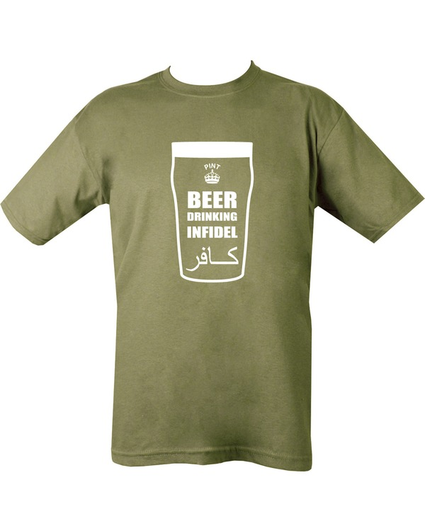 Beer Drinking Infidel T Shirt